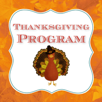 Thanksgiving Program